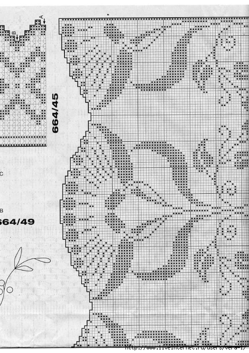 Burda special - E664 - 1982_FRA - Filet au crochet_78 (494x700, 302Kb)