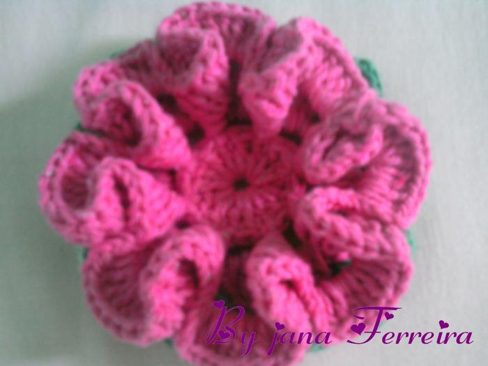 Камелия цветок крючком