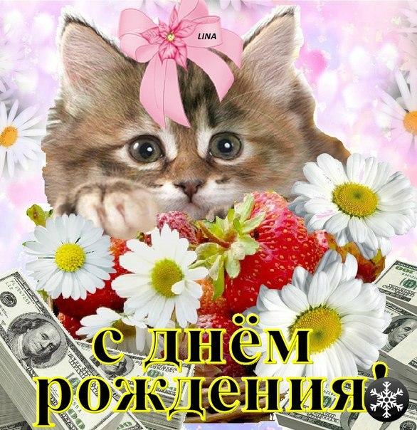 Поздравления с днем рождения с котиком 33