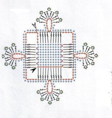 Вязание крючком. Овальные салфетки и подстаканники для стеклянного столика (1) (380x400, 121Kb)
