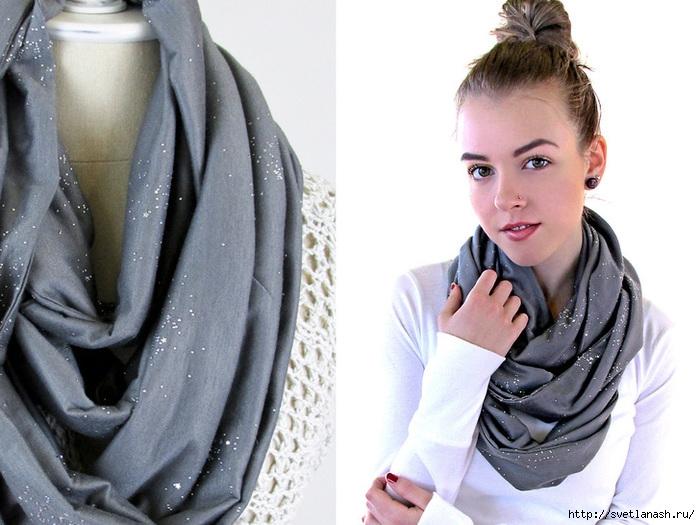 Как сделать шарф-снуд своими руками