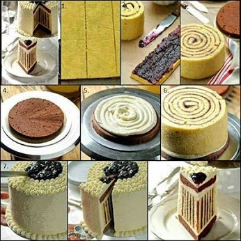 Delicious Blueberry Striped Cake - DIY (346x346, 121Kb)