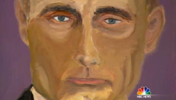 Джордж Буш-младший нарисовал (596x340, 309Kb)