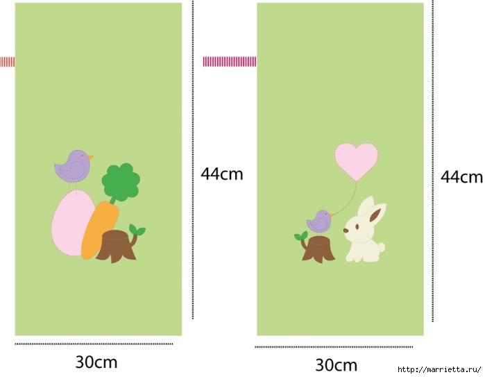 Мешочки с детской аппликацией для подарков к Пасхе (1) (700x543, 74Kb)