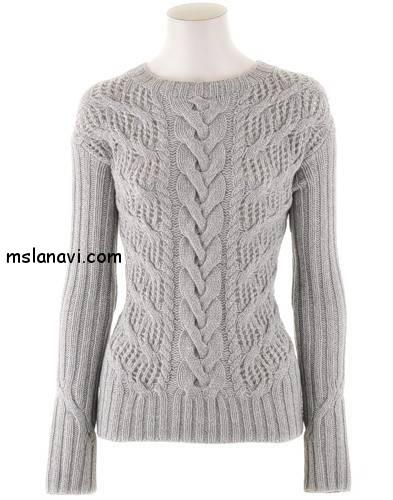 ажурный-пуловер-спицами-Iris-von-Arnim (393x500, 44Kb)
