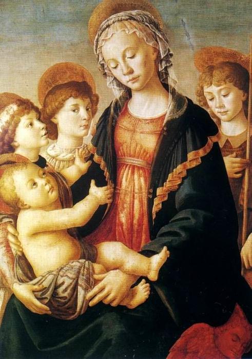 1. Мадонна с Младенцем и Ангелами (491x700, 265Kb)