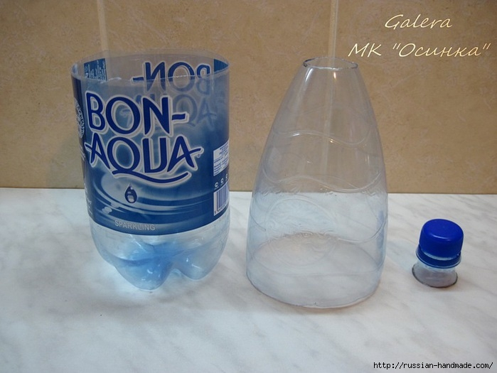 Колокольчик из пластиковой бутылки и бумажных лент. Мастер-класс (4) (699x525, 175Kb)