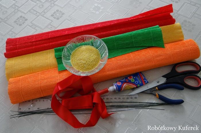 Пасхальная ВЕРБА. Декоративная композиция из веточек вербы и цветов из гофрированной бумаги (10) (700x462, 354Kb)