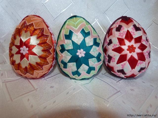 Пасхальные яйца из лент в технике АРТИШОК (30) (640x480, 158Kb)