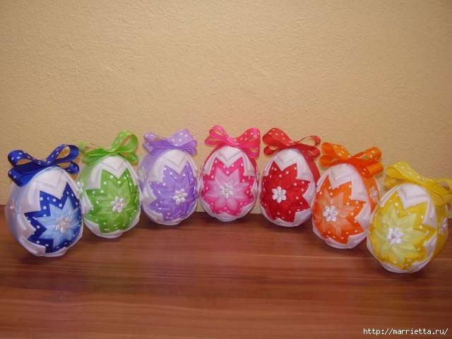 Пасхальные яйца из лент в технике АРТИШОК (43) (640x480, 123Kb)