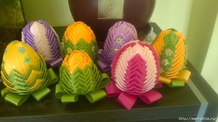 Пасхальные яйца из лент в технике АРТИШОК (57) (700x392, 183Kb)