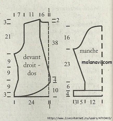 белый-вязаный-жакет-спицами-выкройка (434x466, 198Kb)