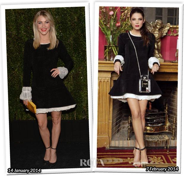 Шанель платье черно-белое