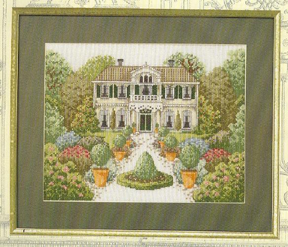 вышивка. большой загородный дом (584x500, 442Kb)