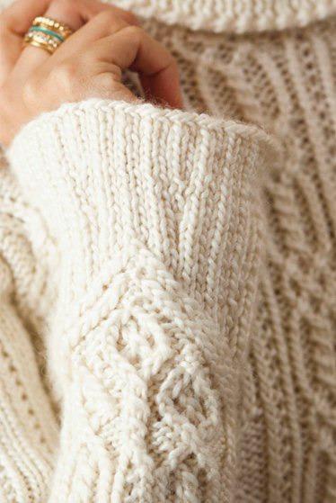 пуловер спицами араны 1 (374x559, 168Kb)