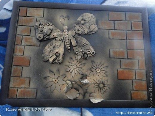 Декоративная картина с бабочкой (2) (520x390, 116Kb)