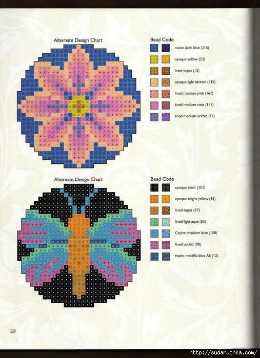 Схемы для вышивки бисером по