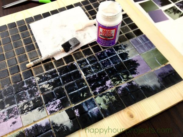Панно из керамической плитки - мозаики и распечатки на принтере (4) (600x450, 296Kb)