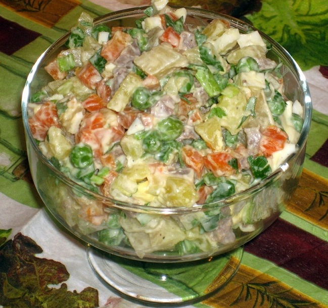 Рецепты мясного салата