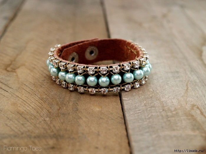 Pearl-and-Leather-Cuff-750x562 (700x524, 253Kb)