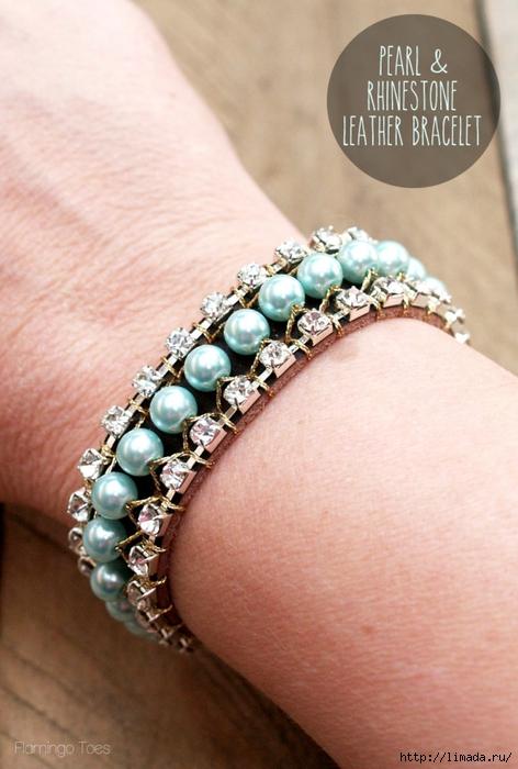 Spring-Pearl-and-Rhinestone-Bracelet-607x900 (472x700, 244Kb)