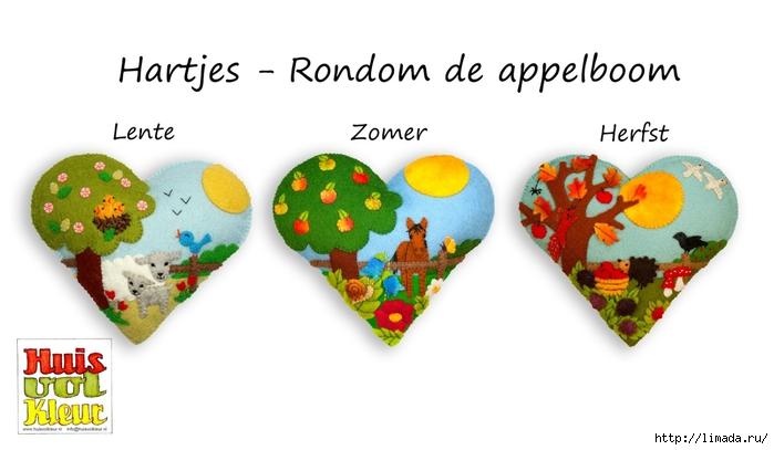 huisvolkleur hart rondom de appelboom 3 seizoenen (700x407, 133Kb)