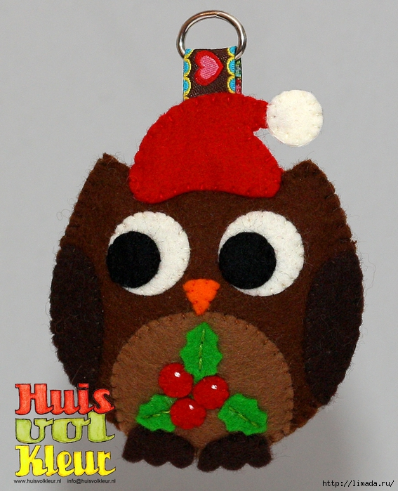 huisvolkleur kerst uil web (567x700, 305Kb)