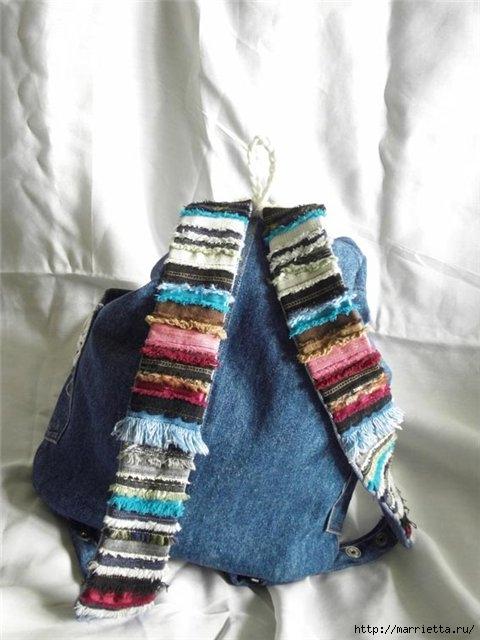 Летний рюкзак из старых джинсов (1) (480x640, 147Kb)