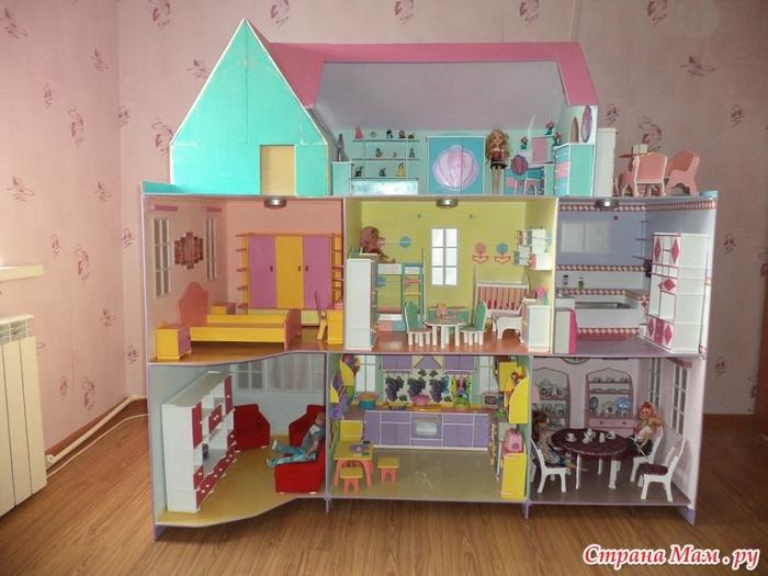 Сделать дом для кукол своими руками большой