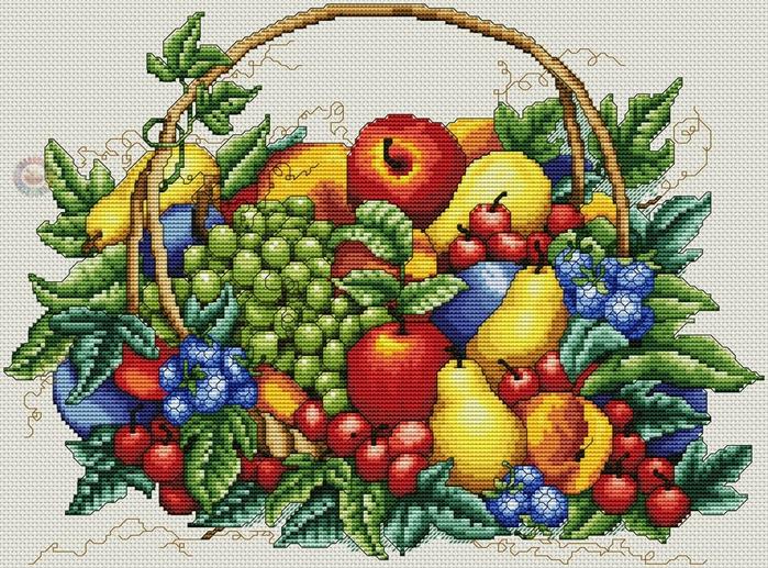 Фрукты Записи с меткой фрукты СХЕМЫ ВЫШИВКИ КРЕСТИКОМ