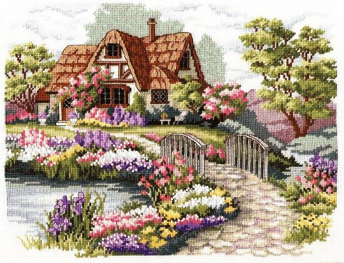 Картинки для вышивки дом