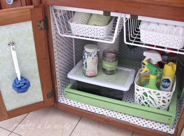 Супер идеи, как устроить место для хранения вещей под мойкой 126809686 121515 2120 mojka8