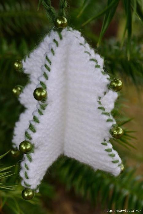 Новогодние подвески - объемные елочки спицами (5) (466x700, 186Kb)