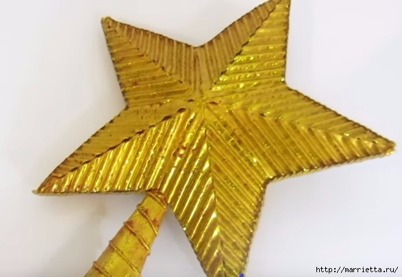 Звезда на елку из картона своими руками (1) (587x405, 110Kb)
