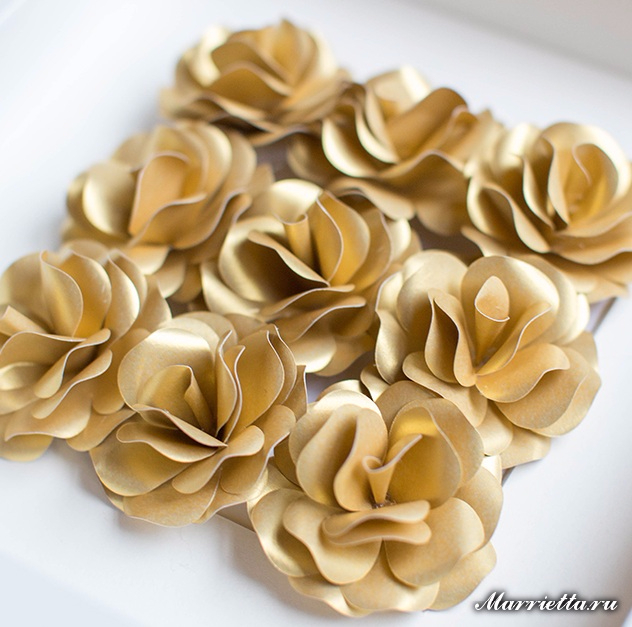 Украшаем интерьер панно с бумажными розами (2) (632x627, 326Kb)