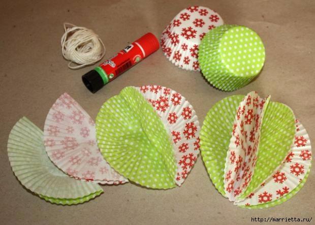 Navidad usar vasos de papel para pasteles (5) (620x443, 148KB)