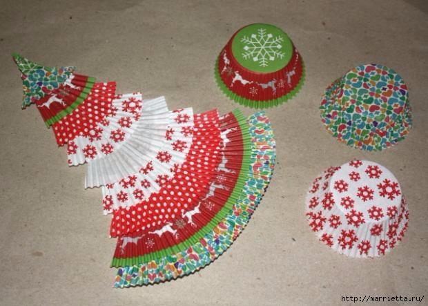 Новогоднее применение бумажных стаканчиков для кексов (13) (620x443, 161Kb)