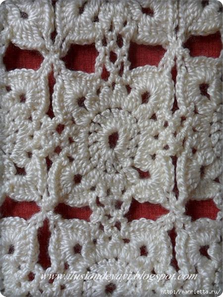 Шапочка и шарфик крючком. Схема (6) (450x600, 269Kb)