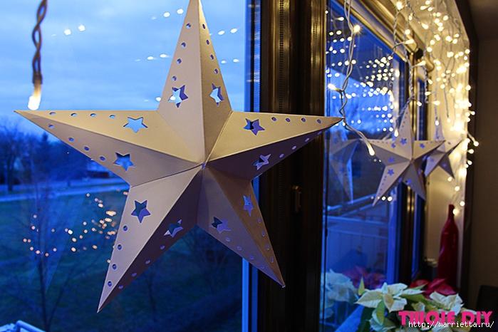 Объемные звезды из бумаги своими руками (1) (700x466, 270Kb)