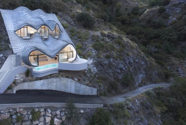 дом с необычной крышей GilBartolome Arquitectos 3 (600x403, 234Kb)