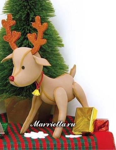 Выкройка рождественского оленя (2) (370x479, 153Kb)