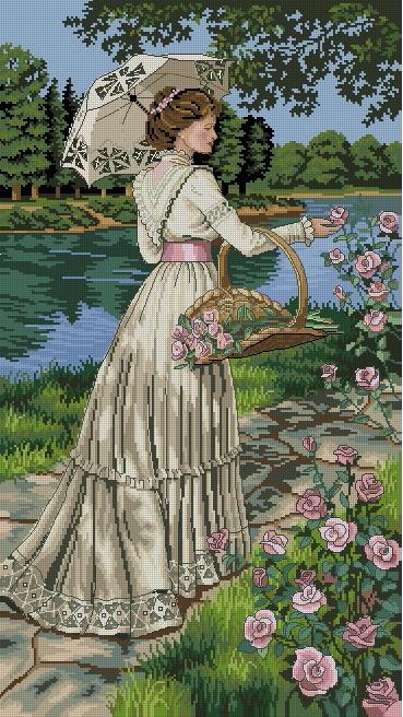 леди в саду (369x656, 409Kb)