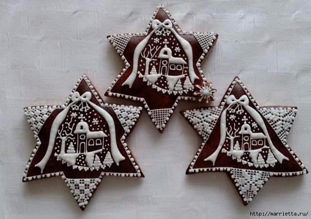 Рождественские пряники. Красивые идеи (44) (640x451, 156Kb)