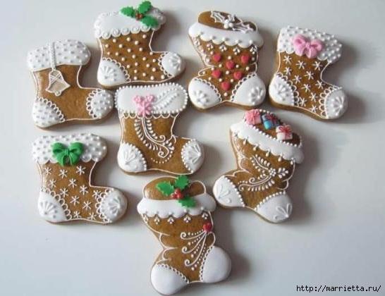 Рождественские пряники. Красивые идеи (57) (546x420, 124Kb)