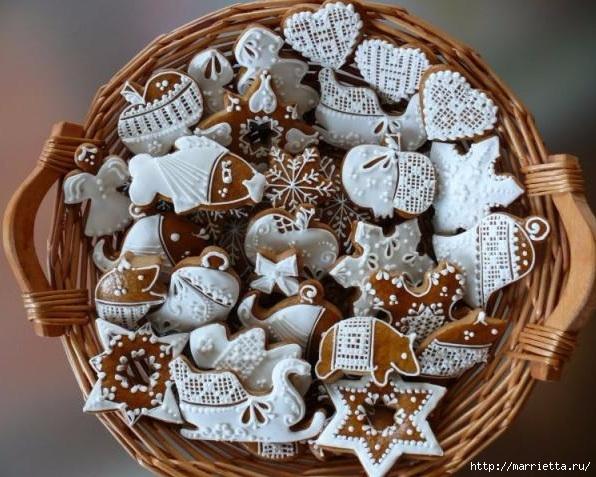 Рождественские пряники. Красивые идеи (62) (596x477, 219Kb)