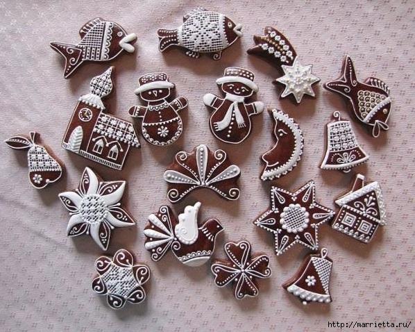 Рождественские пряники. Красивые идеи (71) (598x478, 270Kb)