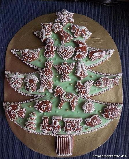 Рождественские пряники. Красивые идеи (3) (447x551, 192Kb)