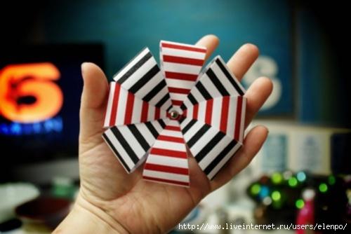 Елочная игрушка своими руками сделать из бумаги