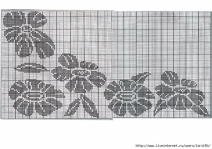 Вязание спицами цветочных орнаментов
