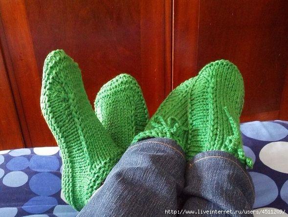Утепляем ножки вяжем